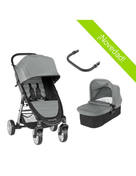 Coche de bebé dúo City Mini 2 de 4 ruedas Slate de Baby Jogger