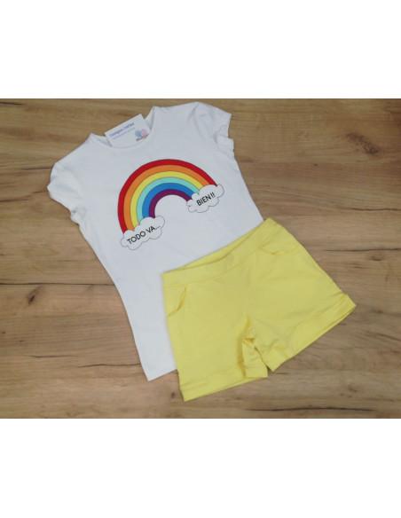 Conjunto para niña Arcoiris Amarillo