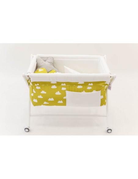 Minicuna bebé Mustard Clouds de Cucos Baby