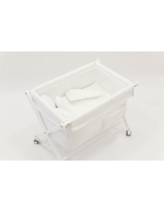 Minicuna bebé blanca de Cucos Baby