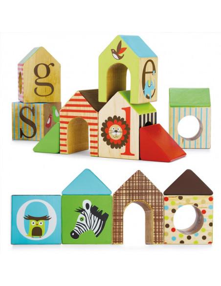 Juguete madera casa apilable alfabeto de Skip Hop