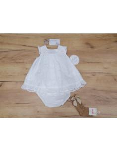 Vestido con braguita de bebé para niña Hortensia