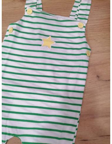 Peto para bebé Rayas Verde