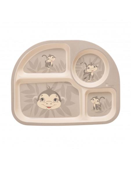 Set de vajilla infantil mono de Bo Jungle