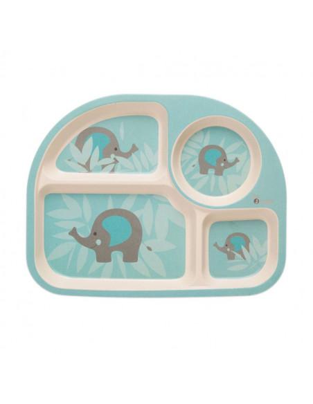 Set de vajilla infantil elefante de Bo Jungle