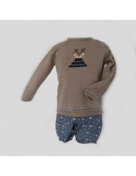 Pantalón pocholo bebé niño Ciervo de Paz Rodríguez invierno