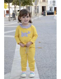 Chándal para bebé Perrito Estrellas Amarillo