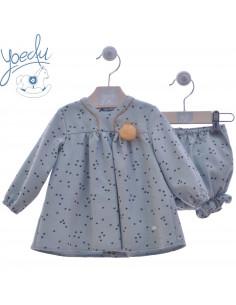 Vestido para bebe con pololo Princesa Yoedu Invierno