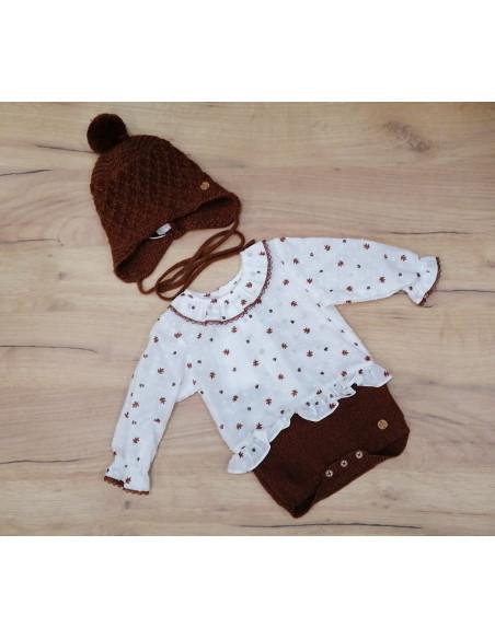 Body bebé niño o niña Bellota de Paz Rodríguez invierno
