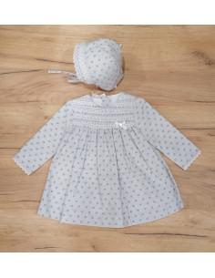 Vestido y capota bebé niña Senda de Paz Rodríguez invierno