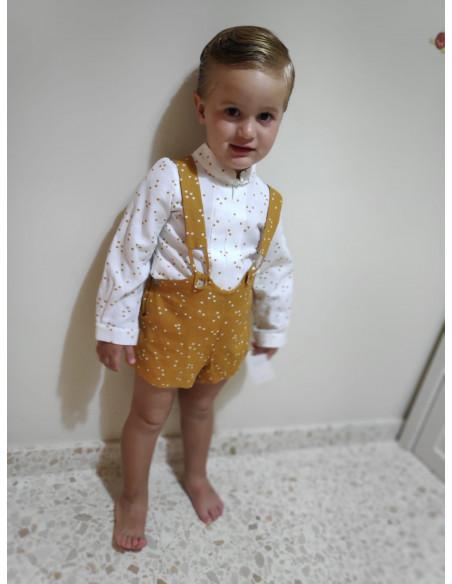 Conjunto peto bebé niño Coronas de Popys