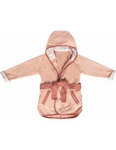 Albornoz para bebé rosa de Luma Babycare