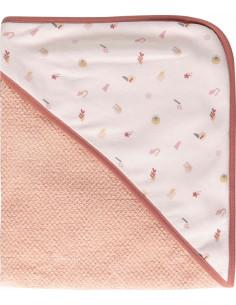 Capa de baño para bebé Luma rosa