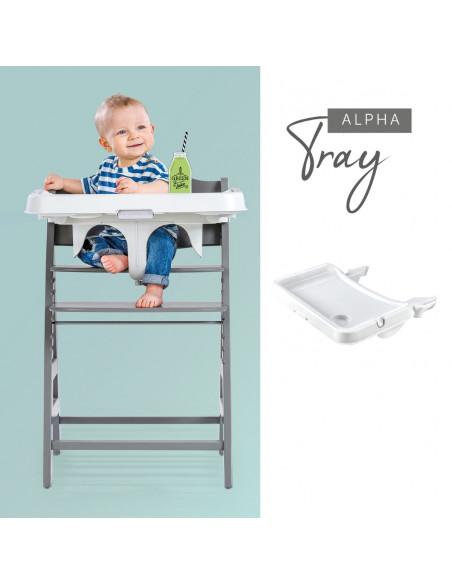 Bandeja para trona bebé Hauck alphatray blanca