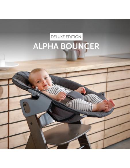 Hamaca bebé Hauck alpha bouncer deluxe melange grey