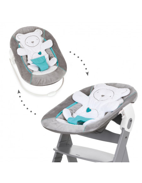 Hamaca y trona bebé Hauck alpha bouncer 2 en 1 hearts grey