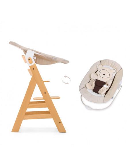 Hamaca y trona bebé Hauck alpha bouncer 2 en 1 beige