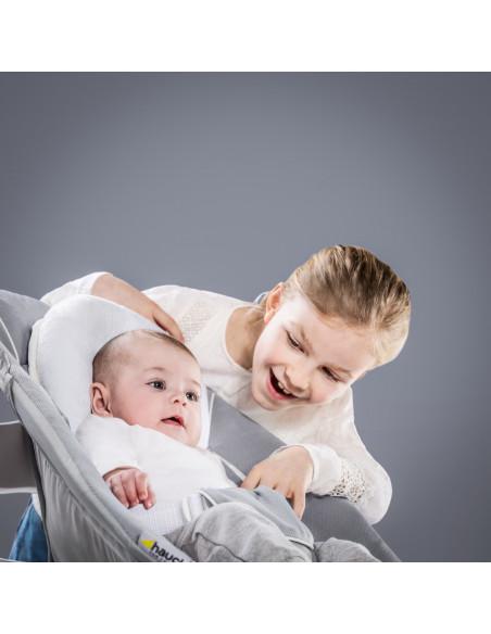 Hamaca y trona bebé Hauck alpha bouncer 2 en 1 stretch grey