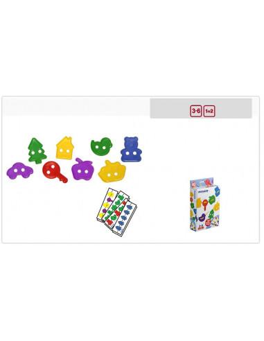 Juguete figuras ensartables 40 piezas de Miniland