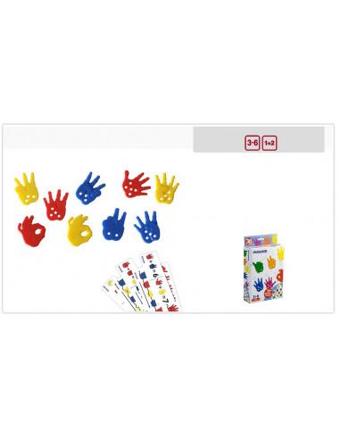 Juguete manos para contar y ensartar 36 piezas de Miniland