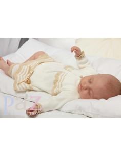 Vestido de bebé punto colección Alma de Paz Rodríguez