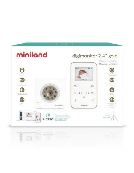 """Vigilabebés de vídeo digimonitor 2.4"""" gold de Miniland"""