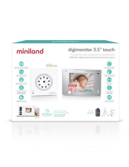 """Vigilabebés de vídeo digimonitor 3.5"""" touch de Miniland"""