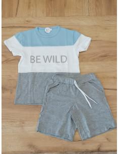 Conjunto para niño Be Wild Gris
