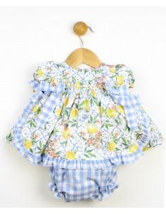 Vestido bebé niña Lemons de Popys