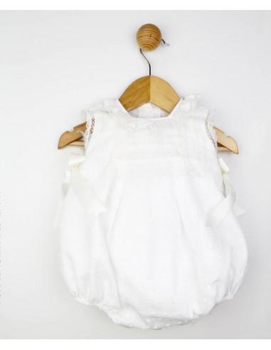 Pelele para bebé Ivory Summer de Popys