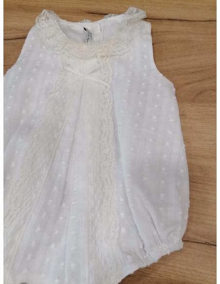 Pelele para bebé White Raw de Popys