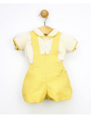 Conjunto dos piezas bebé niño Mustard Daises de Popys