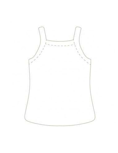 Camiseta de tirantes finos de canalé perforada con motivos de corazones, de Babidu