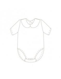 Body cuello bebé de manga corta de Babidu