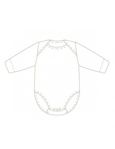 Body de manga corta de canale con motivos perforado de oso Babidu