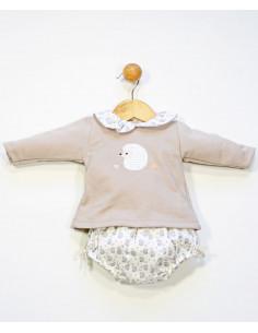 Conjunto cubrepañal para bebé Erizo de Popys
