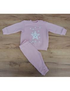 Chándal para bebé Estrella rosa