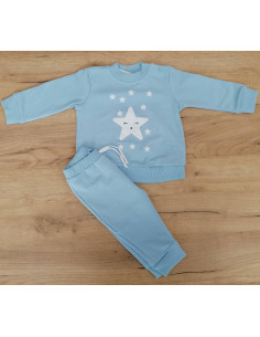 Chándal para bebé Estrella celeste