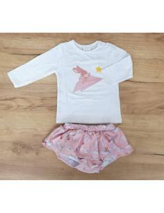 Conjunto para bebé niña falda Conejo