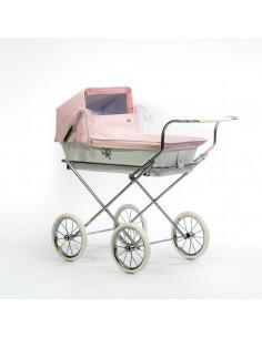 Cochecito pequeño para muñecas Mini Donosti Rosa de Bebelux