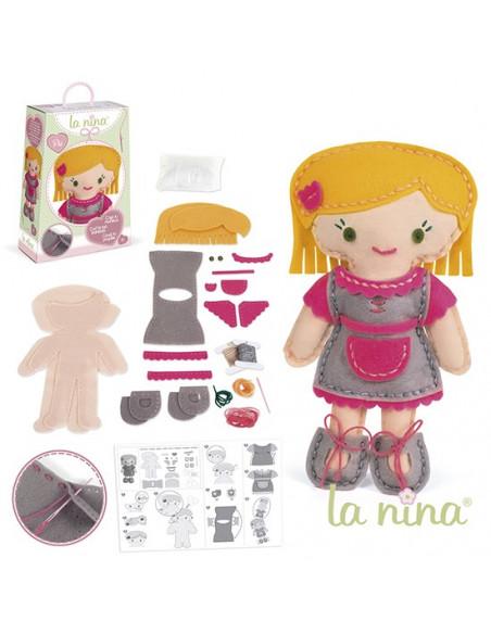 Muñeca Bibi fucsia de La Nina