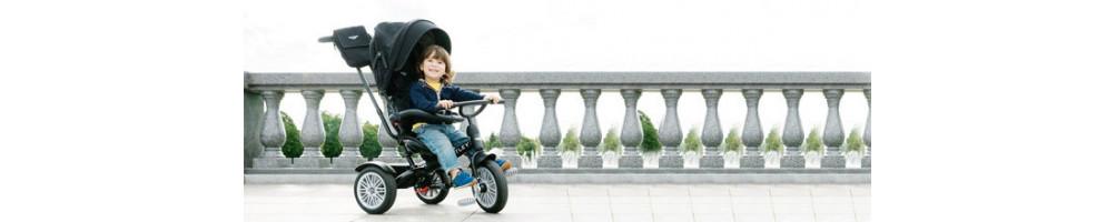 Triciclos infantiles y bicicletas sin pedales
