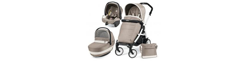 Coches de bebé tres piezas: silla, capazo y silla de coche