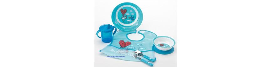 Vajilla y cubiertos de bebé