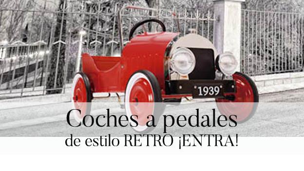 Coches de pedales de estilo retro