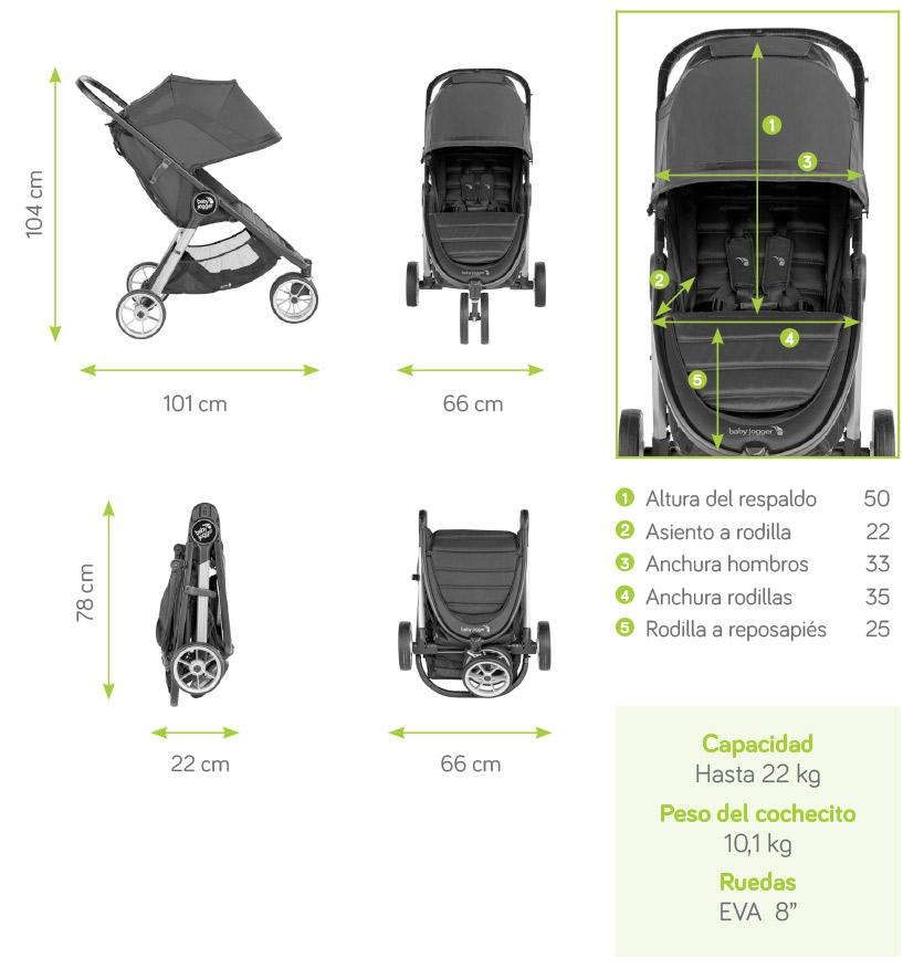 Especificaciones de la silla de paseo