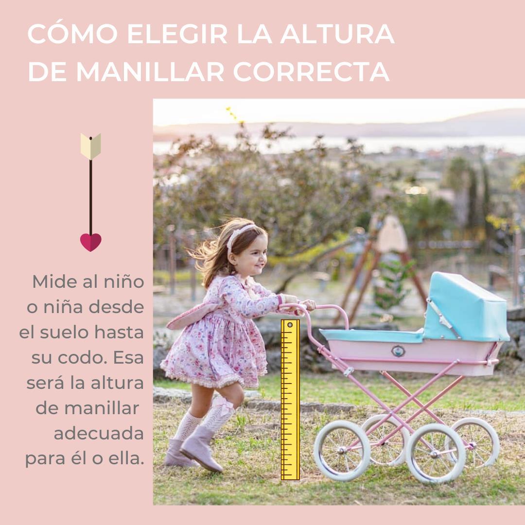Elegir la altura del carrito de muñecas